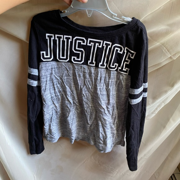 Justice Girls Long Sleeve Cat Top Shirt NWT Size 8